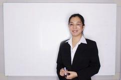 Vrouwelijke Aziatische uitvoerende zaken Royalty-vrije Stock Fotografie