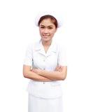 Vrouwelijke Aziatische Verpleegster Stock Foto