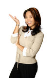 Vrouwelijke bedrijfspresentator Stock Foto's