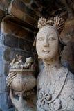 Vrouwelijke beeldhouwwerken. bij wat arun, Bangkok, Thailand Stock Afbeelding