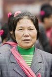 Vrouwelijke bejaarden met een reisgroep, Peking, China Stock Fotografie