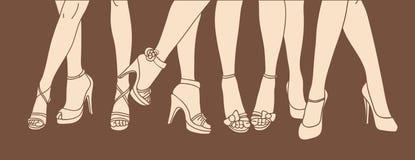 Vrouwelijke benen Royalty-vrije Stock Foto