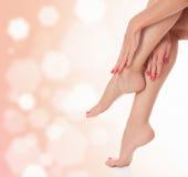 Vrouwelijke benen Stock Foto's