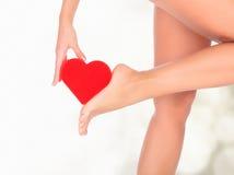 Vrouwelijke benen Stock Foto