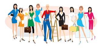 Vrouwelijke beroepen Stock Afbeelding