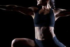 Vrouwelijke bodybuilder royalty-vrije stock foto