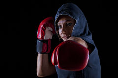 Vrouwelijke bodybuilder stock foto
