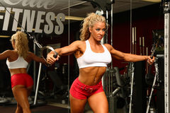 Vrouwelijke bodybuilder Stock Fotografie
