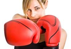 Vrouwelijke bokser Stock Foto's