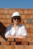 Vrouwelijke bouwer stock afbeelding