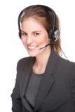 Vrouwelijke callcenterwerknemer Royalty-vrije Stock Afbeeldingen