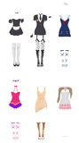 Vrouwelijke Carnaval kostuums Stock Foto's