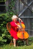 Vrouwelijke cellist. royalty-vrije stock afbeelding