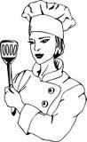 Vrouwelijke chef-kok Royalty-vrije Stock Foto