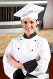Vrouwelijke chef-kok Royalty-vrije Stock Fotografie