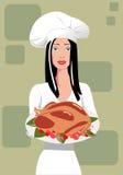 Vrouwelijke chef-kok Royalty-vrije Stock Afbeeldingen