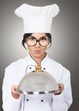Vrouwelijke chef-kok Stock Foto
