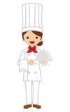 Vrouwelijke chef-kok Stock Afbeeldingen