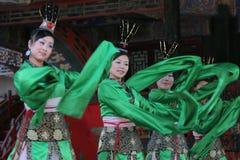 Vrouwelijke Chinese dansers Stock Foto's