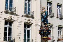 Vrouwelijke cijfer opgenomen rechtvaardigheid in Bern Stock Foto