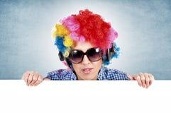 Vrouwelijke clown Stock Fotografie