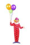 Vrouwelijke clown, gelukkige blije uitdrukking Stock Foto's