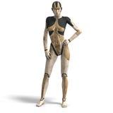Vrouwelijke Cyborg Stock Afbeeldingen