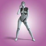 Vrouwelijke Cyborg Stock Foto