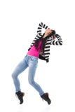 Vrouwelijke danser die zich op tenen bevinden Royalty-vrije Stock Foto's