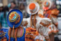 Vrouwelijke dansers in Ecuador Stock Afbeelding