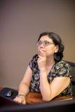 Vrouwelijke Denken en Brainstorming het op middelbare leeftijd Royalty-vrije Stock Foto