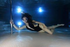 Vrouwelijke duiker Stock Foto