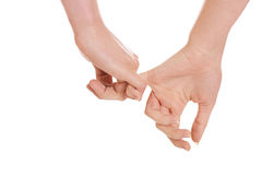 Vrouwelijke en mannelijke handen samen Royalty-vrije Stock Afbeelding