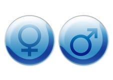 Vrouwelijke en mannelijke symbolen royalty-vrije illustratie