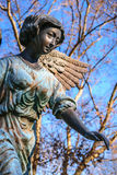 Vrouwelijke Engel in Blauw Stock Fotografie