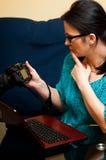 Vrouwelijke Fotograaf Royalty-vrije Stock Afbeelding