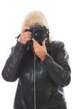 Vrouwelijke Fotograaf Stock Foto
