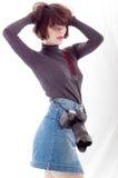 Vrouwelijke Fotograaf royalty-vrije stock foto