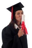 Vrouwelijke gediplomeerde stock fotografie