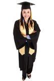 Vrouwelijke gediplomeerde stock afbeeldingen