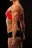 Vrouwelijke geschiktheidsbodybuilder Stock Foto's