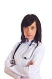 Vrouwelijke geïsoleerdee arts Stock Foto