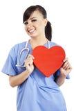 Vrouwelijke gezondheidszorgarbeider Stock Foto's