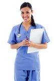 Vrouwelijke gezondheidszorgarbeider Stock Afbeelding