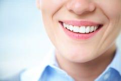 Vrouwelijke glimlach Stock Fotografie