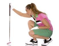 Vrouwelijke golfspeler Stock Afbeelding