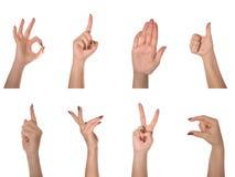Vrouwelijke hand gebaren royalty-vrije stock foto