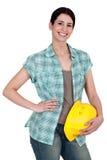 Vrouwelijke handarbeider stock fotografie