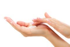 Vrouwelijke handen Stock Afbeeldingen