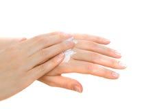 Vrouwelijke handen stock foto